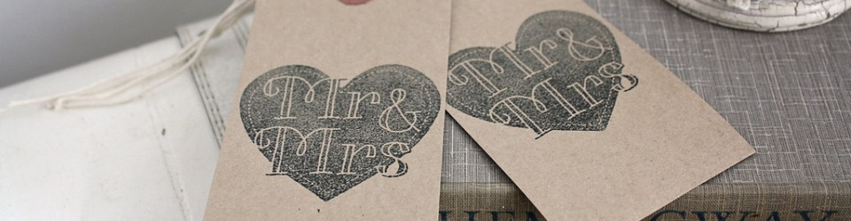 Mr &amp; mrs wedding luggage tags